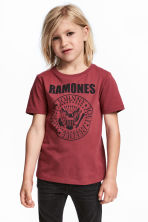 Printed T-shirt - Dark red/Ramones -  | H&M 1