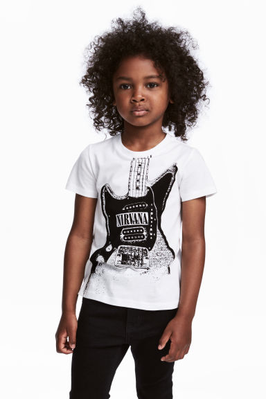 T-shirt met print - Wit/Nirvana -  | H&M BE 1