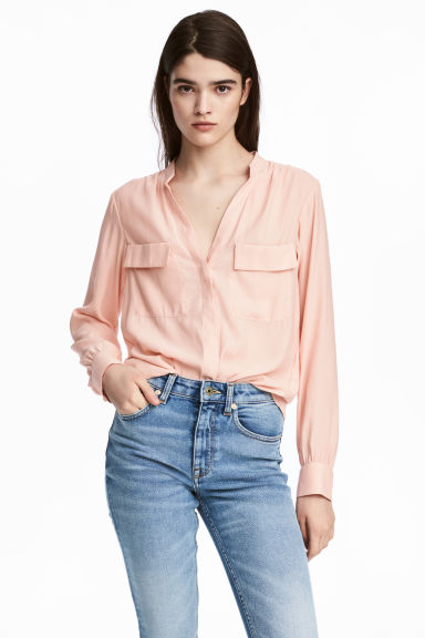 Crêpe blouse - Powder pink - Ladies | H&M CA 1