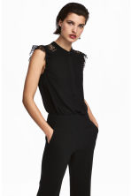 Crêpe blouse - Black - Ladies | H&M IE 1