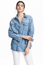 Camicia oversize in jeans - Blu denim - DONNA | H&M IT 1