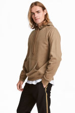 Hooded top with raglan sleeves - Camel - Men | H&M 1