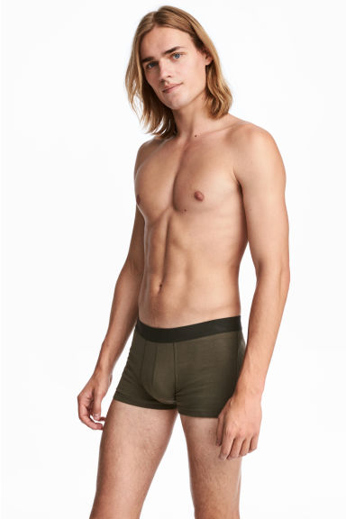 7-pack trunks - Khaki green - Men | H&M CN