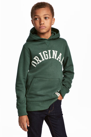 Hooded top - Green -  | H&M