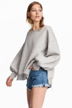Oversized sweatshirt - Grey marl - Ladies | H&M CA 1