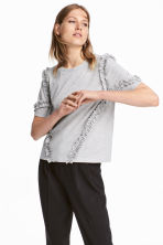 Wide top - Light grey -  | H&M 1