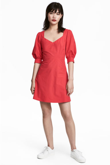 Cotton dress - Red - Ladies | H&M