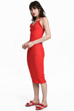 Ribbed dress - Red - Ladies | H&M 1