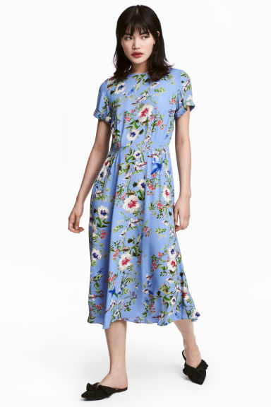 Patterned dress - Blue/Floral - Ladies | H&M 1
