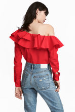 One-shoulder blouse - Red - Ladies | H&M CN 1