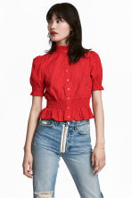 Cotton blouse - Red -  | H&M 1