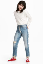 Loose fit Trashed Jeans - null - Ladies | H&M CN 1