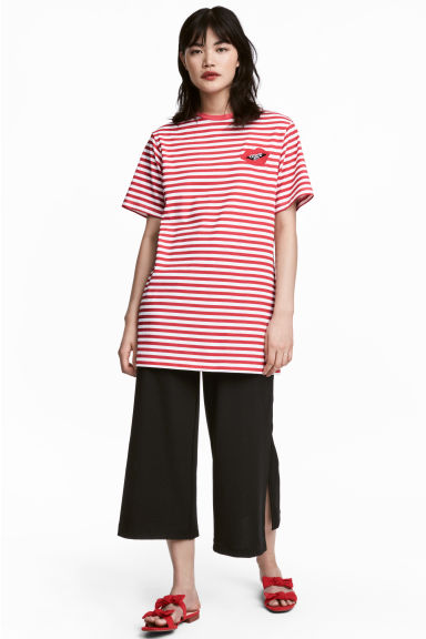 T-shirt dress - Red/White striped - Ladies | H&M
