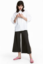 Culottes with Slits - Black -  | H&M CA 1