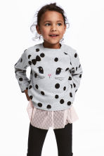 Fine-knit Sweater - Light gray/dotted - Kids | H&M CA 1