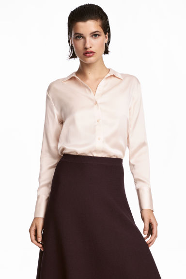 Camicia in seta - Cipria - DONNA | H&M IT 1