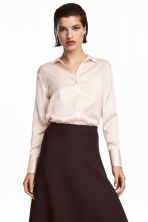Silk shirt - Powder - Ladies | H&M CA 1