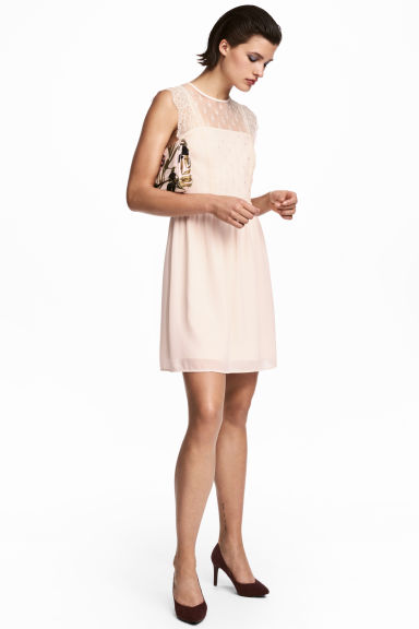 Lace dress - Powder pink - Ladies | H&M CN