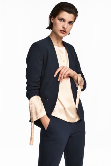 Fitted jacket - Dark blue - Ladies | H&M 1