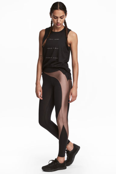 緊身運動褲 - Black/Nougat - Ladies | H&M 1