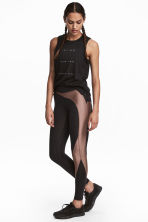 Sports tights - Black/Nougat - Ladies | H&M CN 1
