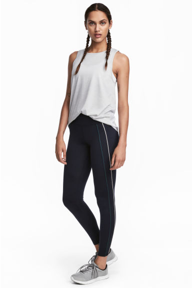 Sports tights - Dark blue - Ladies | H&M