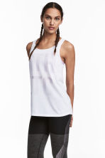 Sports top - White - Ladies | H&M 1