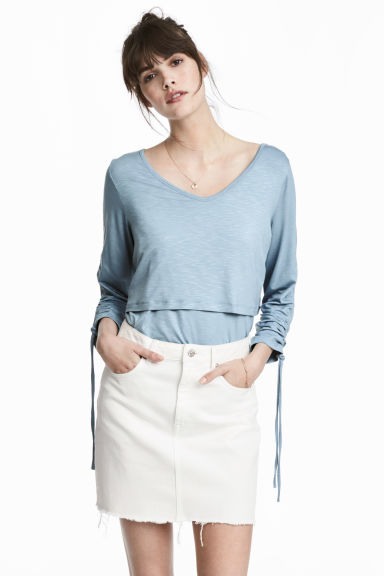 MAMA Nursing top - Light blue - Ladies | H&M 1