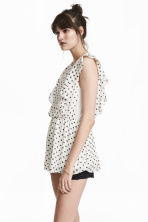 MAMA Patterned nursing blouse - White/Spotted - Ladies | H&M CN 1