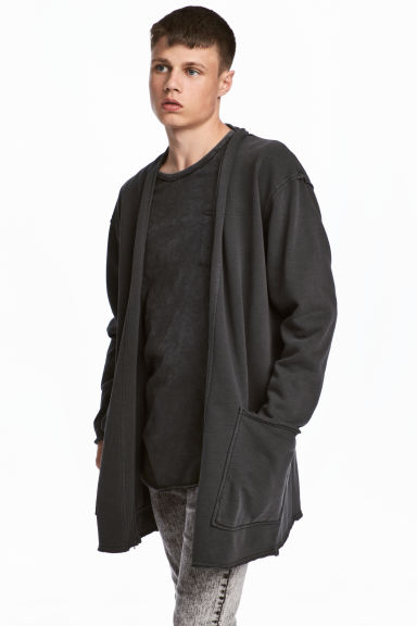 Sweatshirt cardigan - Black - Men | H&M CN 1