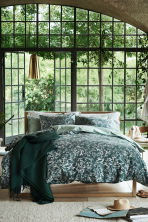Waffled bedspread - Dark green - Home All | H&M CN 1