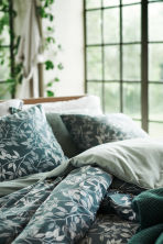 Patterned duvet cover set - Khaki green - Home All | H&M CN 1