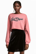 Cropped sweatshirt - Coral pink - Ladies | H&M CN 1