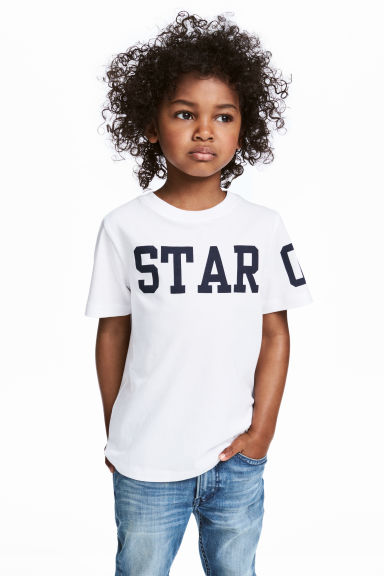 圖案T恤 - White - Kids | H&M 1