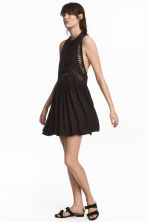 Embroidered dress - Black - Ladies | H&M 1