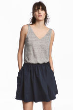 Top in jersey di lino - Grigio mélange - DONNA | H&M IT 1