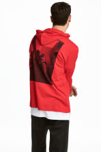 Cotton jersey hooded top - Red - Men | H&M 1