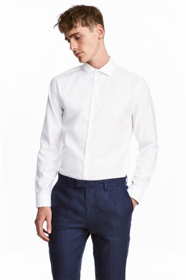 Skjorta i premium cotton - Vit - Men | H&M FI 1