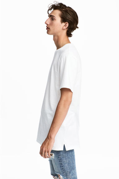 Long T-shirt - White - Men | H&M 1