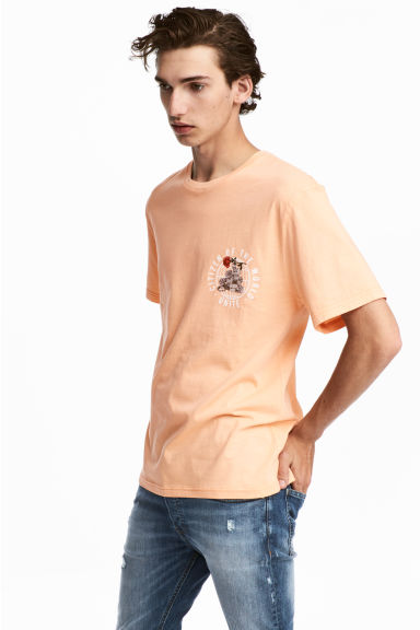 Printed T-shirt - Apricot - Men | H&M CA 1