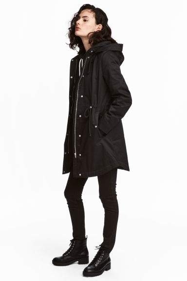 Padded parka - Black - Ladies | H&M