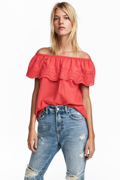 Off-Shoulder-Shirt - Himbeerrosa -  | H&M CH