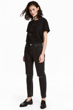 Boyfriend Slim Low Jeans - Black denim -  | H&M 1