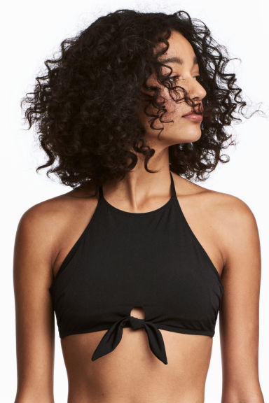 Halterneck Bikini Top - Black - Ladies | H&M CA