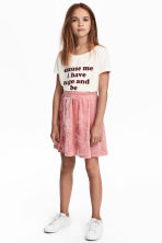 Velour skirt - Powder pink - Kids | H&M CN 1