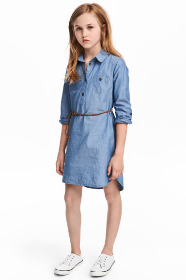 Shirt Dress - Denim blue -  | H&M CA 1