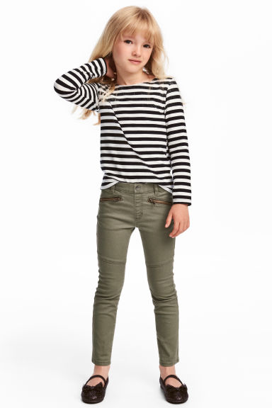 Treggings - Khaki green - Kids | H&M CN 1