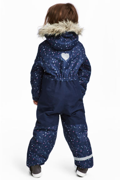 Padded outdoor all-in-one suit - Dark blue/Stars -  | H&M