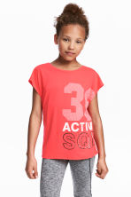 Sports top - Neon coral - Kids | H&M 1
