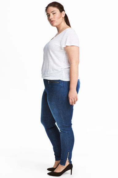 H&M+ Shaping Skinny Zip Jeans - Blue -  | H&M GB